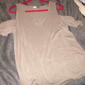 Light brown flowy shirt